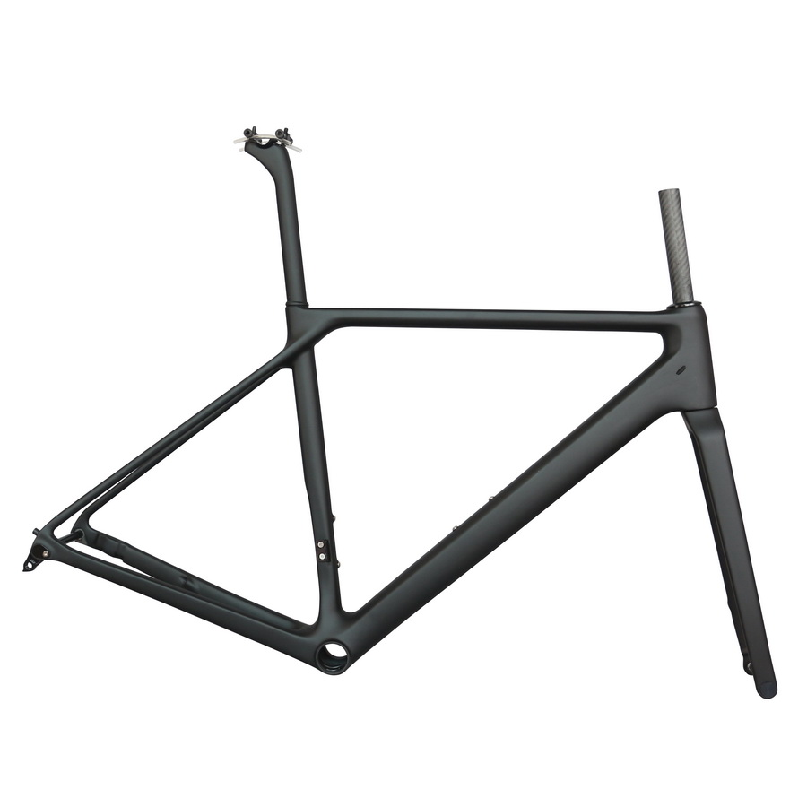 Seraph Black Paint Toray T1000 Carbon Fiber Flat Mount Disc Brake BB86 All Inter Cable  Carbon Road Fbicycle Frame Fm009