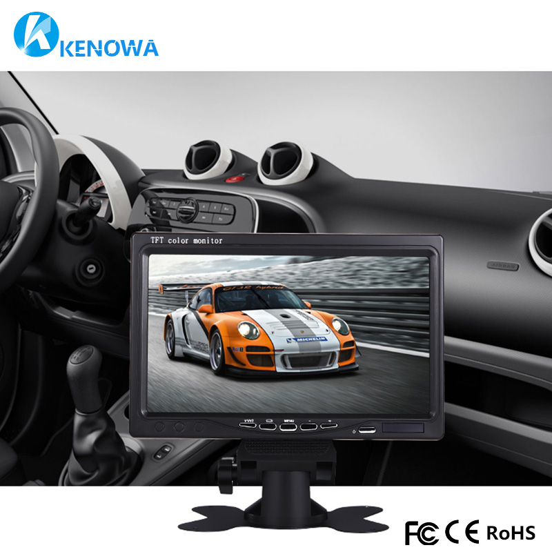 7 inch 1024x600 industrial Car Reverse Backup Rearview TFT LCD monitor 2 AV Input Screen Computer Monitors PC car video Security carchet 7 inch tft lcd color car monitor 2 video input pc audio video display security monitor screen car styling monitor