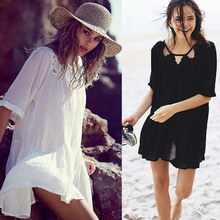 Summer Style 2016 Women New Sexy Club Embroidered Floral Lace Crochet Dress Bodycon Bandage Beach Dresses
