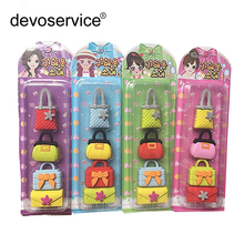 Handbag Cosmetics Rubber Eraser Creative Kawaii Stationery School Supplies Papelaria Gift For Kids erasers for kids