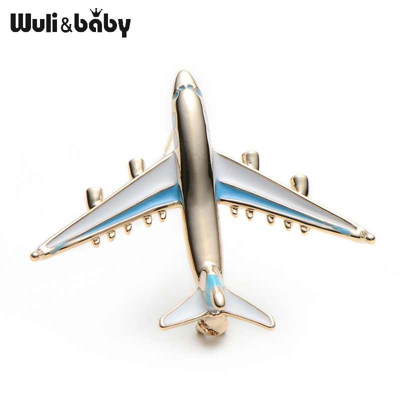 ... Alloy Airplane Brooch Pins Enamel Red Blue Plane Luxury Brand Brooches  For Women Men Costumes Aircraft ... 2cb20168981b