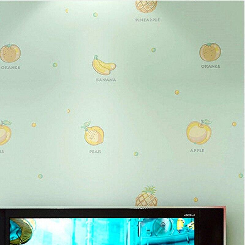 Beibehan filles enfants chambre papier peint de chambre chaud dessin animé enfantin fruits Anglais non-tissé papier peint mur papiers décor à la maison