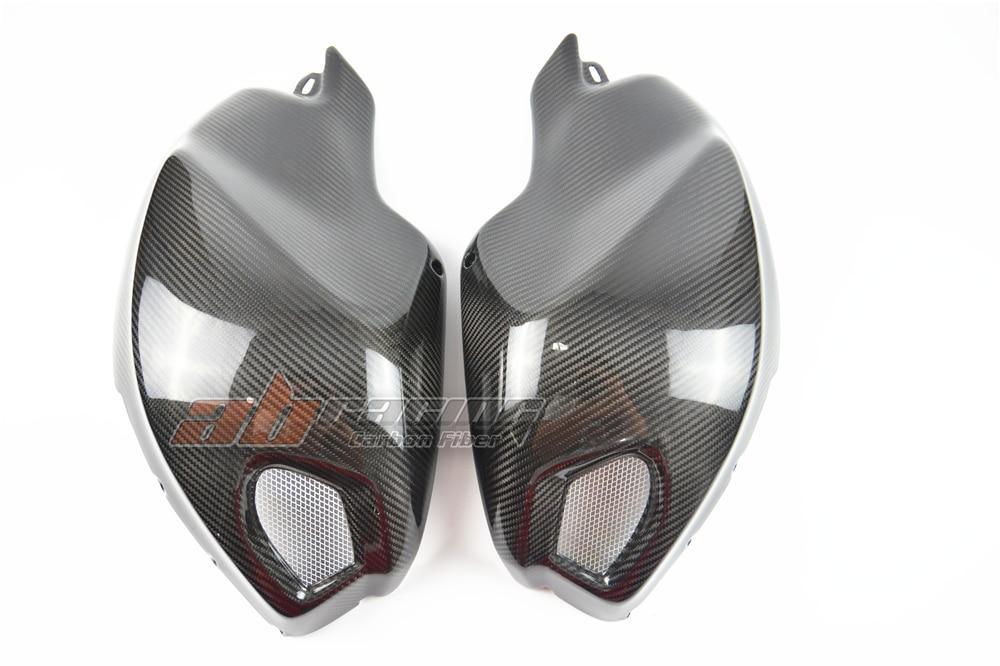 Side Tank Covers  For Ducati Monster  696 795 796 1100   Full Carbon Fiber 100% Twill