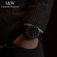 Карнавал Тритий световой Кварцевые Для мужчин часы тонкий циферблат кожаный Мода Montre Homme Лидирующий бренд Роскошный Сапфир relogio masculino