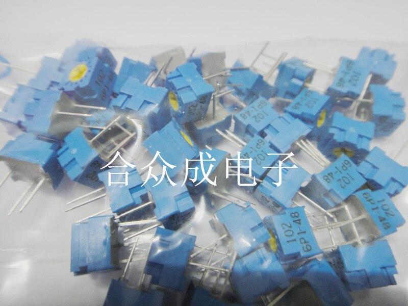 100% Оригинальный Φ точный регулируемый одноповоротный переключатель потенциометра GF063P1 B504 B500K