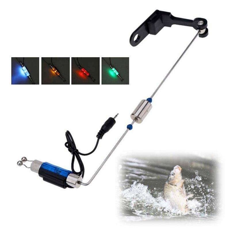 Percha de Hierro Alarma Pesca Mordedura Libertino pesca Iluminado LED Indicador