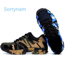 Anti-smash anti-puncture outdoor safety protective shoes military men's shoes