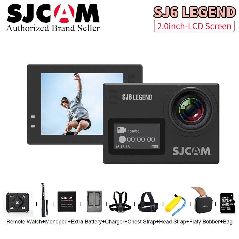 Original SJCAM SJ6 Legend 2' Touch Screen Remote Action camera 4K 24FPS NTK96660 Helmet Sports DVR Camera Waterproof 30M sj cam