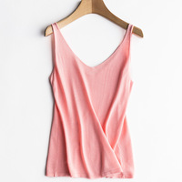 2018 Women Slim Camisole Knitting Tank Tops Female Bodycon Sleeveless Camisole V Neck Casual Summer Tops