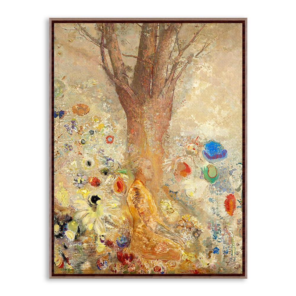 Fantasy Odilon Redon Impressionism Zen Buddha A4 Art Print Poster ...