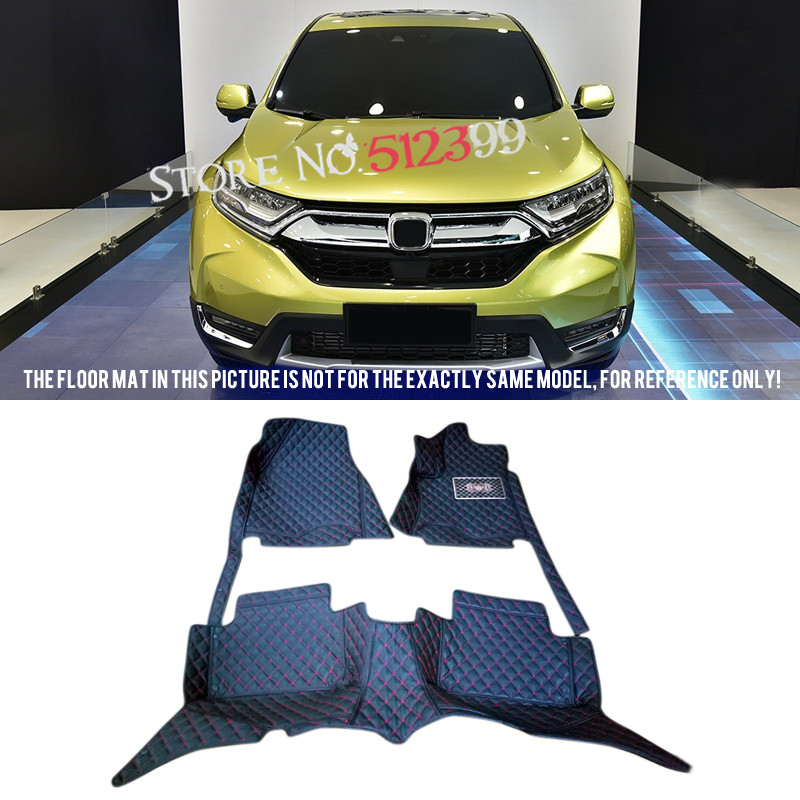 Custom Fit Car Floor Mats artificial leather 1 set  for Honda CRV CR-V 2017 2018 Car Accessories Styling for honda crv cr v 2017 2018 car artificial leather interior floor carpets foot mat 1 set car styling accessories