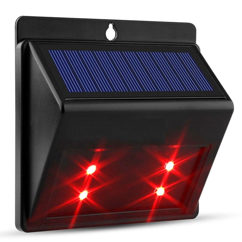 4 LED Waterproof Solar Powered Wireless PIR Motion Sensor Light Outdoor Garden Landscape Yard Lawn Security Wall Lamp