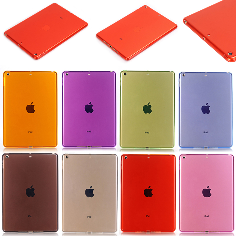 for new ipad pro 9.7 2017 case Hot selling transparent soft TPU cover for ipad pro 9.7 for ipad mini4 cover high quality soft tpu rubber back case for ipad mini 4 silicone back cover semi transparent case shell skin