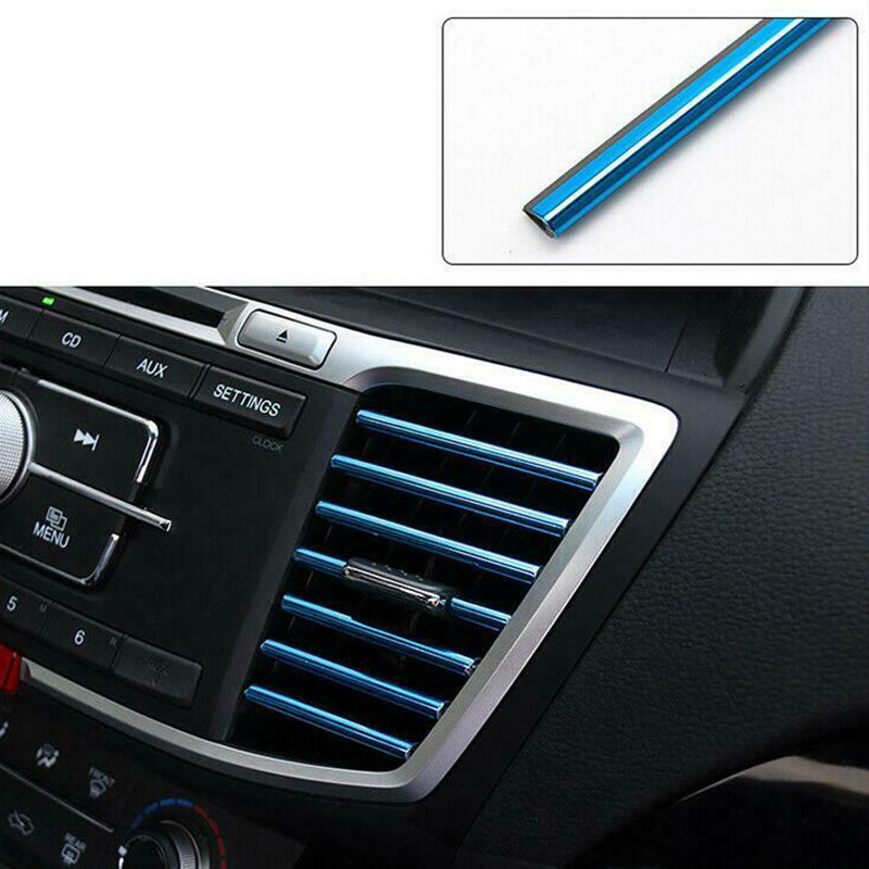 10Pcs Car Accessories Air Conditioner Air Outlet Decoration Strip 20cm  6 Color