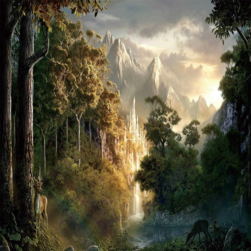 Chúa tể những chiếc nhẫn phong cảnh Dép Nỉ Ném Chăn Nhẹ Ấm Cúng Sofa Giường Chăn Màn Vải Siêu Mềm