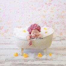 ジェーン Z アン新生児小さな赤ピンクチェック柄のバスローブ + 帽子写真プロップ衣装スタジオのクリエイティブ撮影アイデア