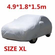 XL Universal Anti UV Lluvia Nieve Polvo Sombrilla Calor CUBIERTA de Protección A Prueba de Polvo A Prueba de agua Al Aire Libre Completo CAR AUTO 4.9*1.8*1.5 m