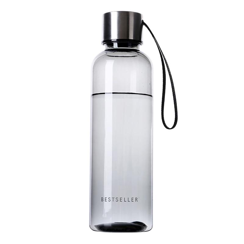 500ml Plastmasas biznesa pudele Augļu sulas tējas piena tējkanna Portatīvie sporta kempingi Riteņbraukšana Plastmasas Skaidrs Mana ūdens pudeles