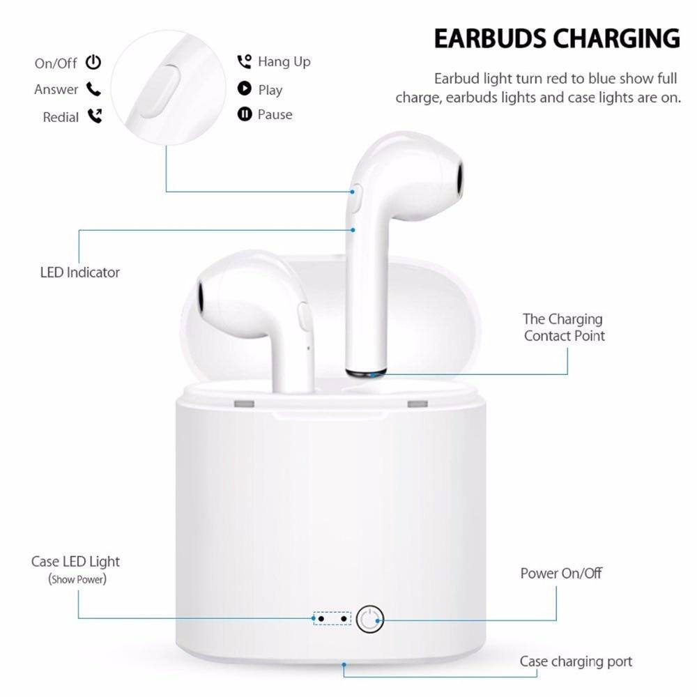 i7s TWS Mini Wireless Bluetooth Earphone 5.0 With Charging Box And Mic 6