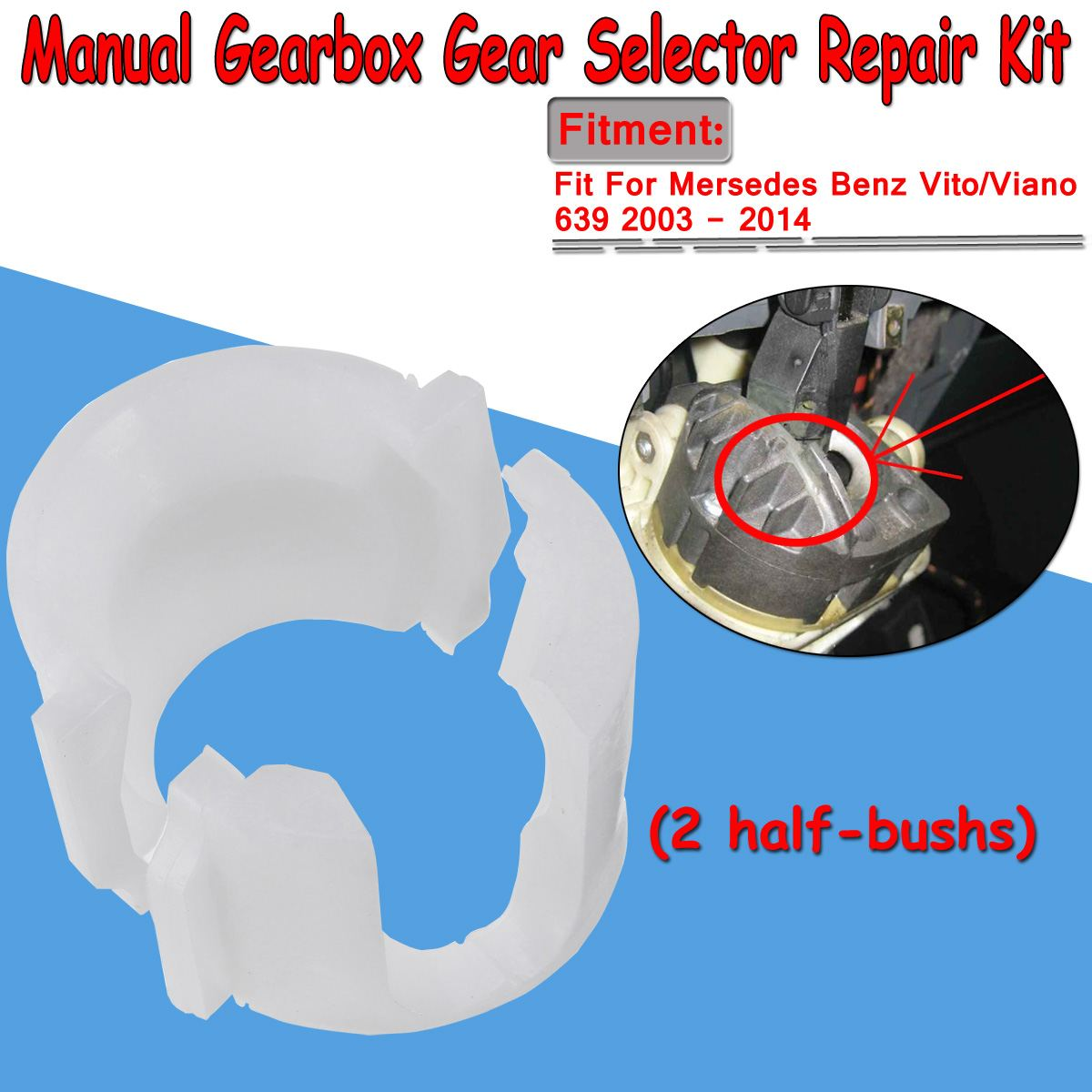 stick repair kit 639 manual gearbox For Mercedes Vito Viano gear ...