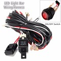 270cm 40A 14V 300W Offroad LED Driving Lamp Extention Wire Relay LED Work Light Bar Wiring Loom Harness Kit Fuse Power Off 4x4
