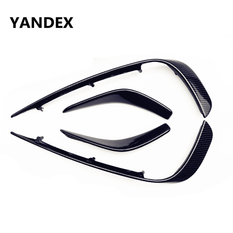 YANDEX Mercedes X156 Bumper Canards Carbon fiber Splitter lip For Benz GLA Class X156 With AMG package 2015-present universal auto car bumper moulding decorative fins canards front splitter sticker carbon fiber car styling for all cars 4pcs set