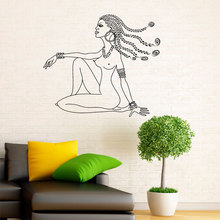 African Beautiful Woman Vinyl Wall Sticker Removable Mural Art Home Decor Living Room Africa Girl Interior Design Decals 3234