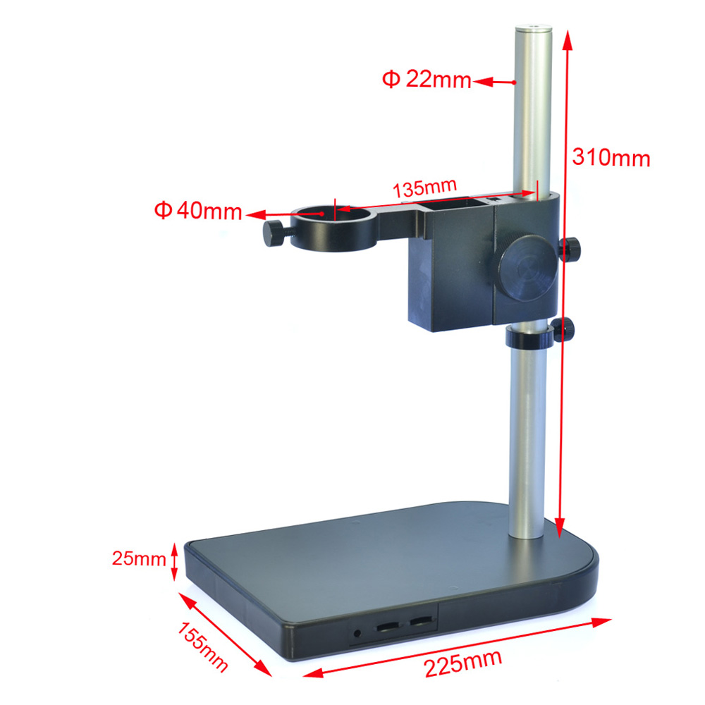 HAYEAR Microscope Arm Bracket 40mm Large Adjustable Stereo Digital Microscope Lens Table Stand Dual Ring Holder For Industry Lab