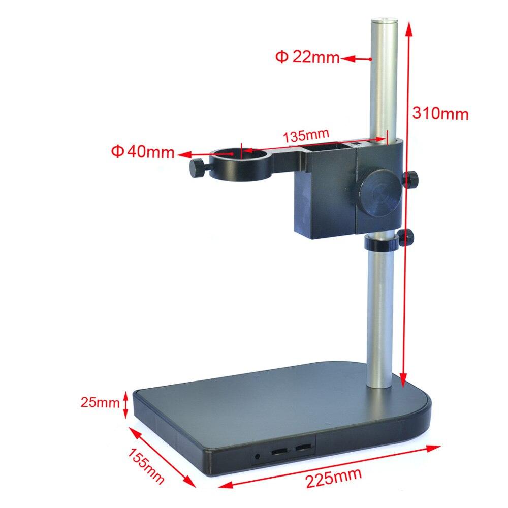 HAYEAR support de Table avec lentille de Microscope, support de bras de Microscope numérique stéréo de 40mm, double porte-anneau pour le laboratoire de l'industrie