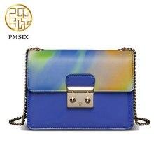 Pmsix 2017 diseñador de la marca de lujo de estilo chino bolsas de hombro pequeña bolsa de mensajero 240003