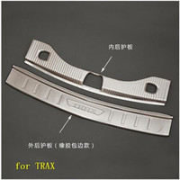 stainless steel Rear Bumper Protector Sill Trunk Tread Plate Trim for Chevrolet TRAX 2017 2018 Car styling