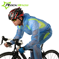 ROCKBROS Waterproof Cycling Jersey Breathable Jacket Jersey Windproof Coat Clothing MTB Reflective Bike Road Raincoat RK0019