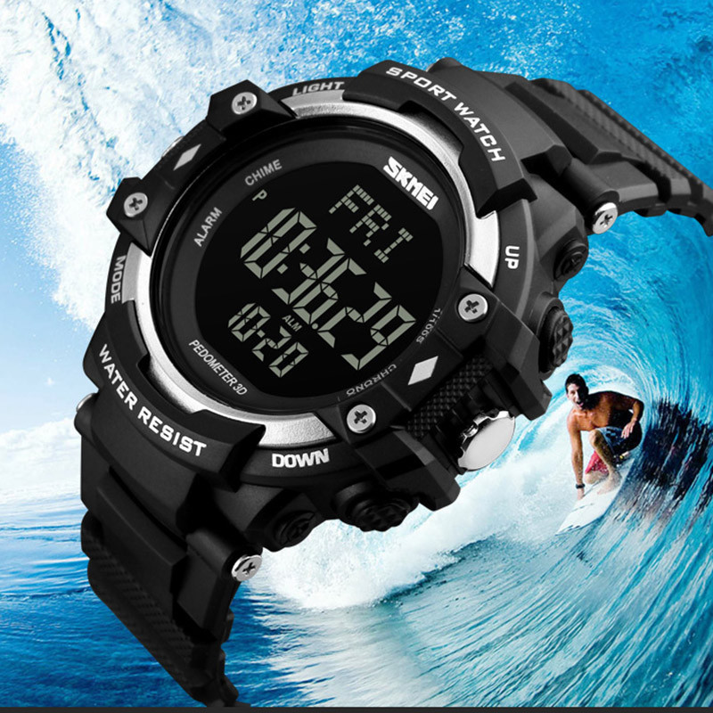 Calories Counter Fitness Digital Watch Sport Watches Men Pedometer Heart Rate Monitor Outdoor <font><b>SKMEI</b></font> Brand Wristwatches image