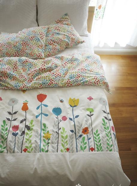 Hogar-textil Lino algodón tela Floral parche Metro imprimir telas Lino algodón sofá telas tejido colcha costura 100x140 cm. - 3