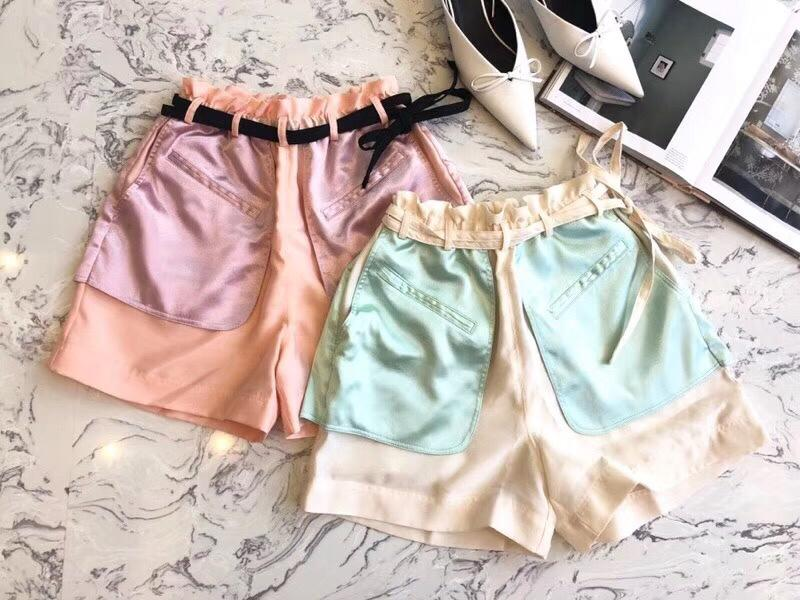 2019 ladies loose fashion stitching women s shorts 0413