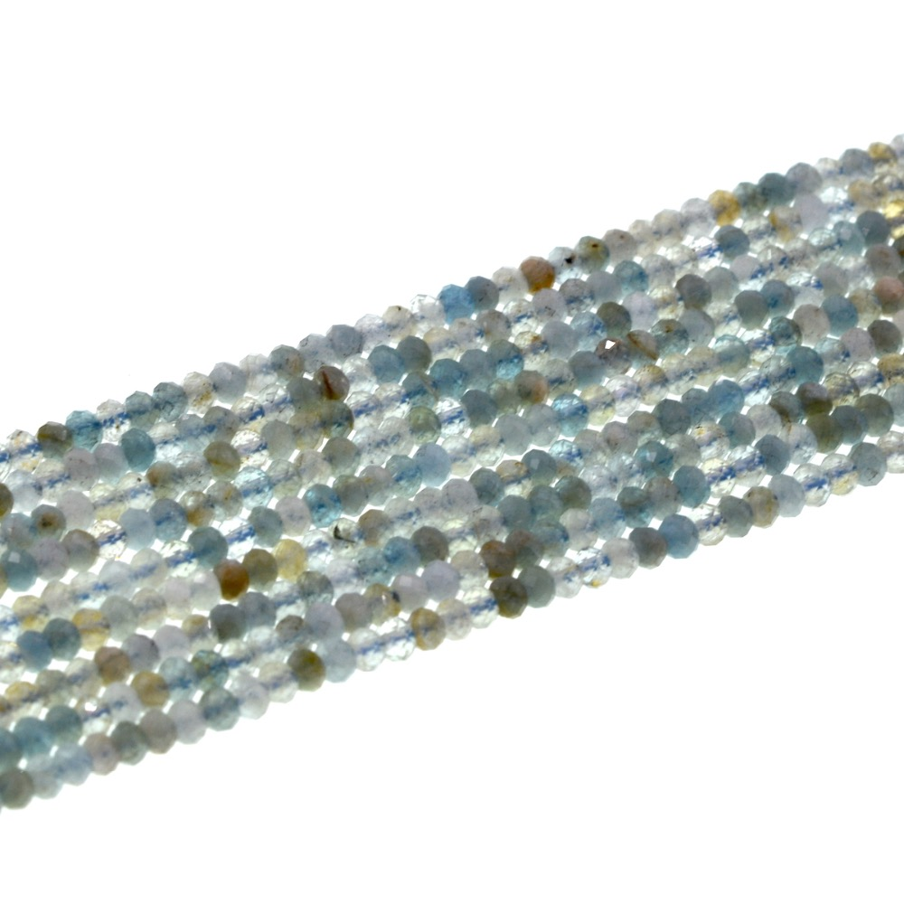 Fashion diy 3mm rondelle facetted blue fancy aquamarin beads full strand