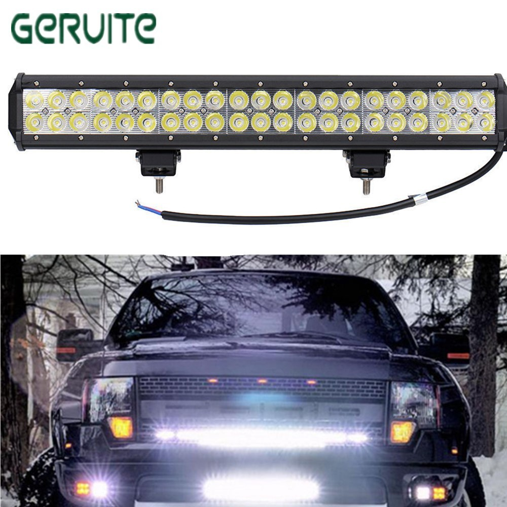 Hot Sale CE ROHS Approved Waterproof 10100lms 126W led Bar Offroad Driving Light led Light Bar Work Light Wholesale Fog Light
