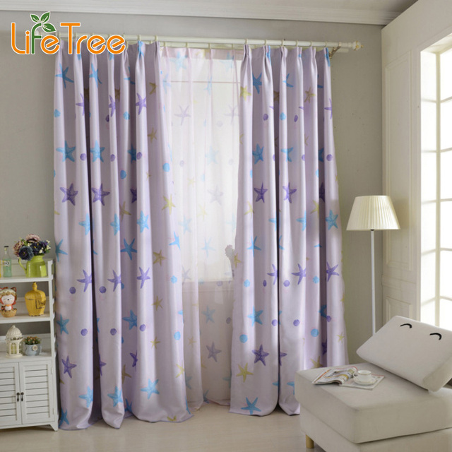 Blackout Curtains boys blue blackout curtains : Aliexpress.com : Buy Purple & Blue Sea Star Printed Modern ...