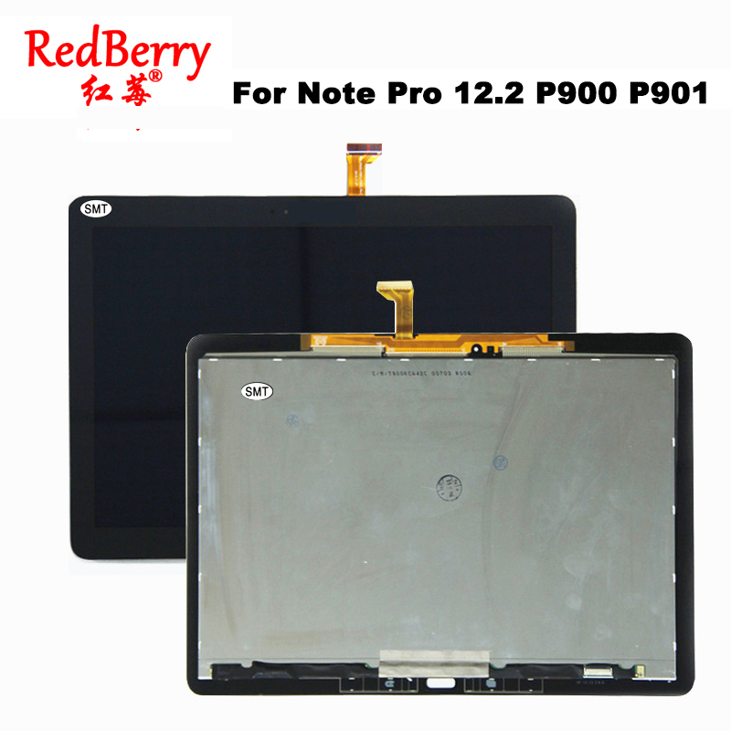 New 12.2 inch P900 For Samsung Galaxy Note Pro 12.2 P900 P901 P905 lcd Display With Touch Screen combo Digitizer Assembly Panel official original metal keyboard station wireless blutooth stand case cover for samsung galaxy note pro 12 2 p900 p901 p905 t900