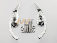 Black Chrome Teardrop Motorcycle Mirrors Case For Harley Dyna Softail Sportster Touring
