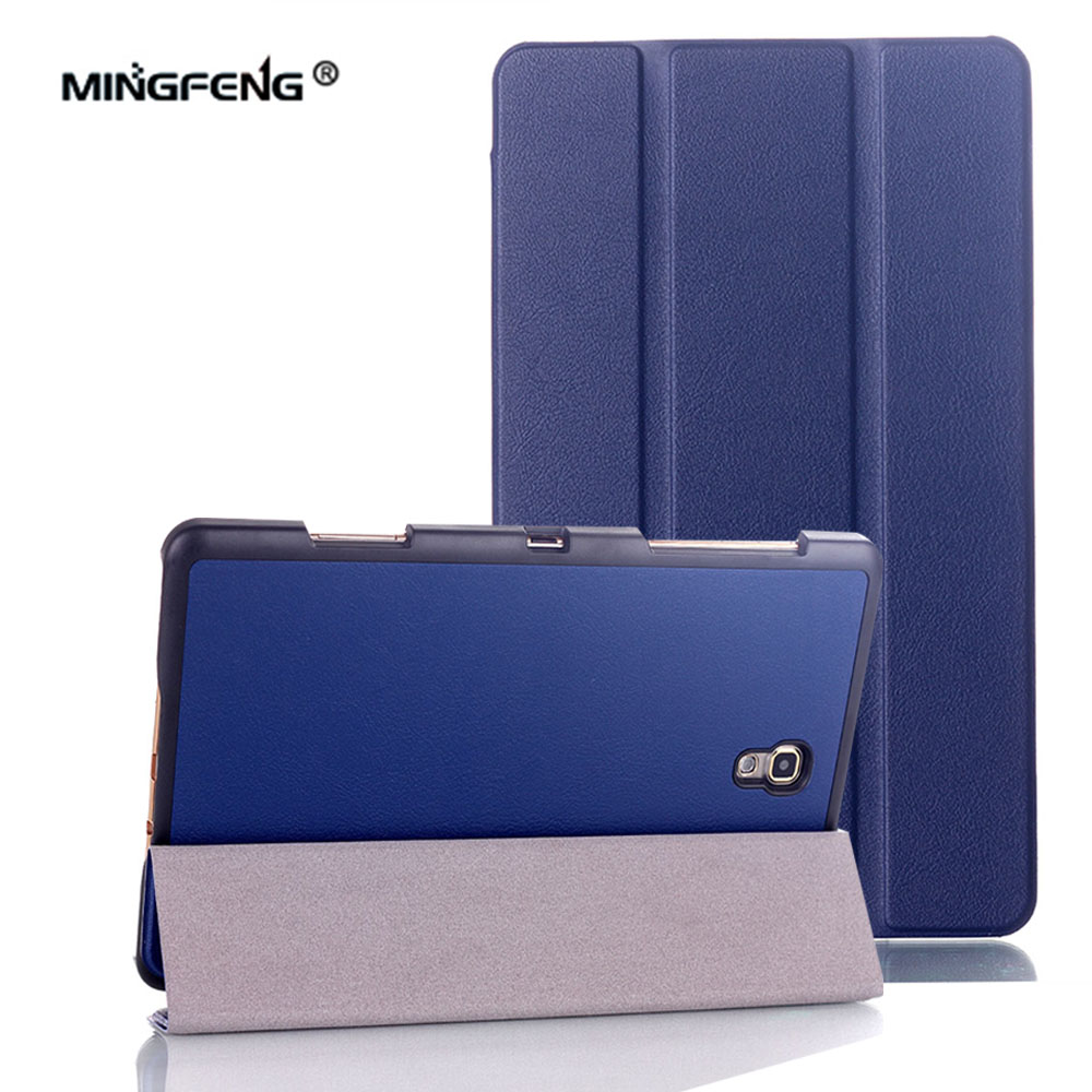 For Samsung Galaxy Tab S 8.4 Case PU Leather Auto Sleep Wake Up Magnet Cover for Samsung Tab S 8.4 SM-T700 T705 Case+Stylus Pen