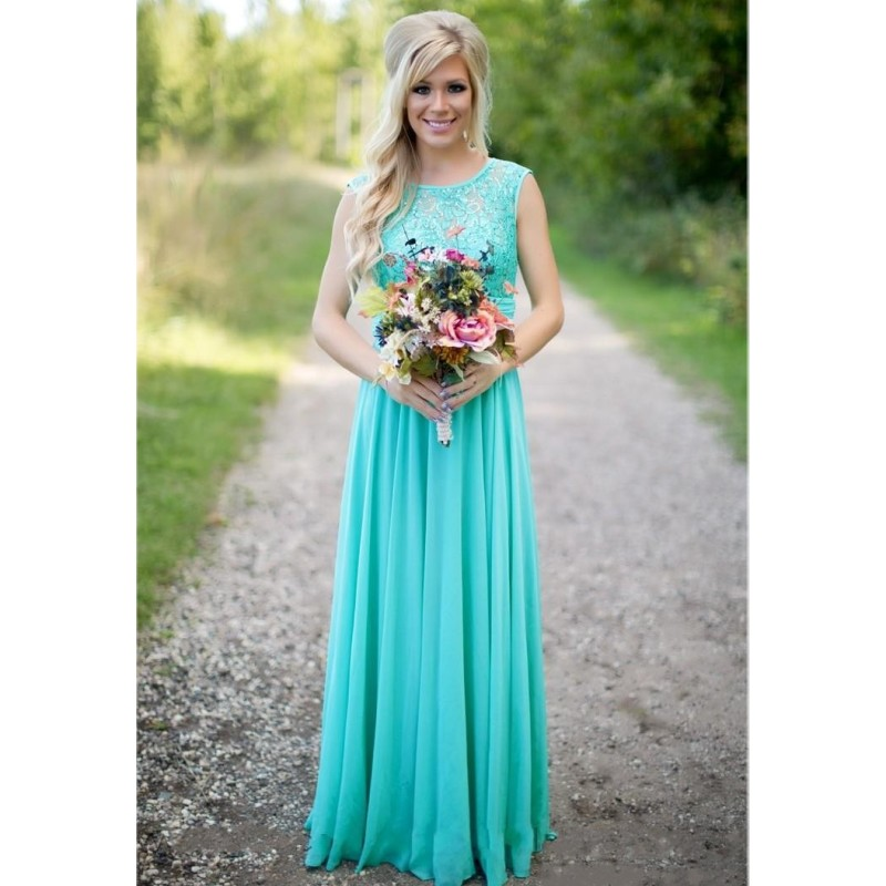 sleeveless long aqua mother bride dress lace