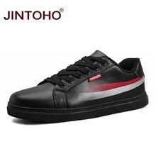 JINTOHO New Men Sneakers Outdoor Skateboarding Shoes Men Leisure Shoes Black Leather Sport Shoes Brand Men Leather Sneakers