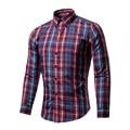 Brand Men Shirt Long Sleeve Casual Shirt Men's Clothing Print Shirt Slim Fit Camisa Masculina Floral Shirts Men New 2017