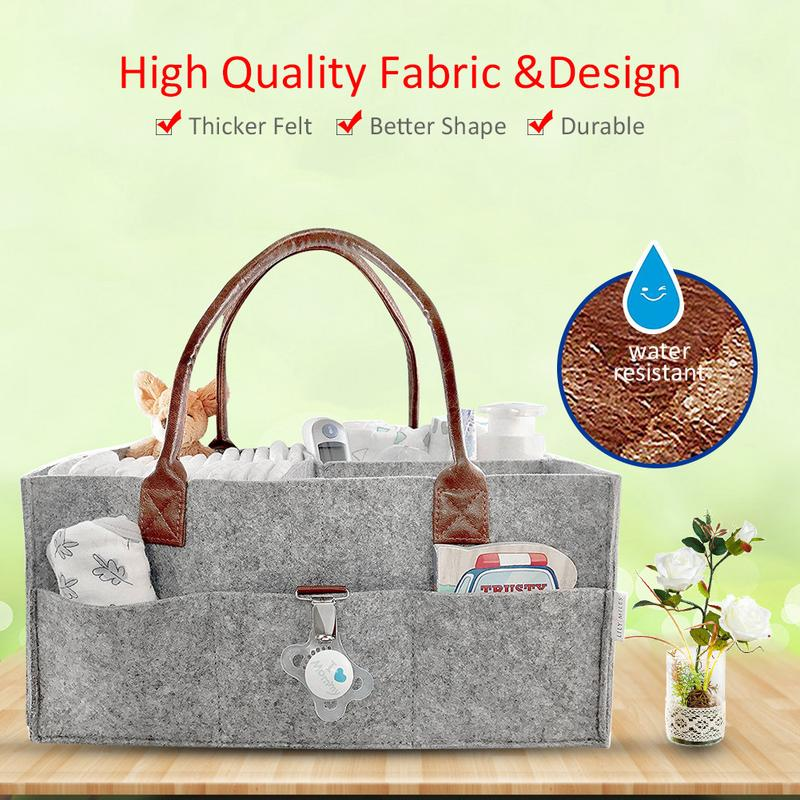 Foldable Felt Storage Bag Diaper Caddy Organizing Children Toys Tote Organizer Women's Fashion Bag Cosmetic Storage Organizer
