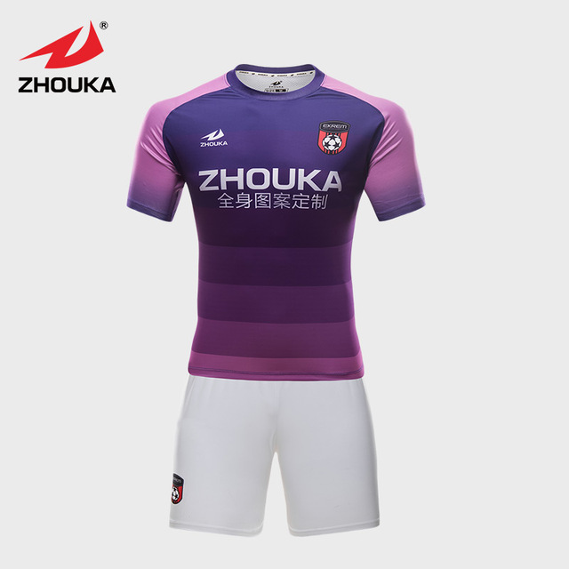 66fc697a3c8 Football Color Gradient Jersey Customizing Purple Soccer Uniform Custom  This Design full deepth customization fast delivery