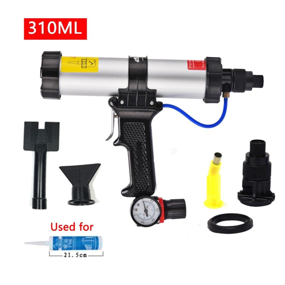 цена на 310ml Air Cartridge Gun paint & decorating Caulking Gun Metal Plate Plastic Nozzle Cartridge Pneumatic sealant finishing tools
