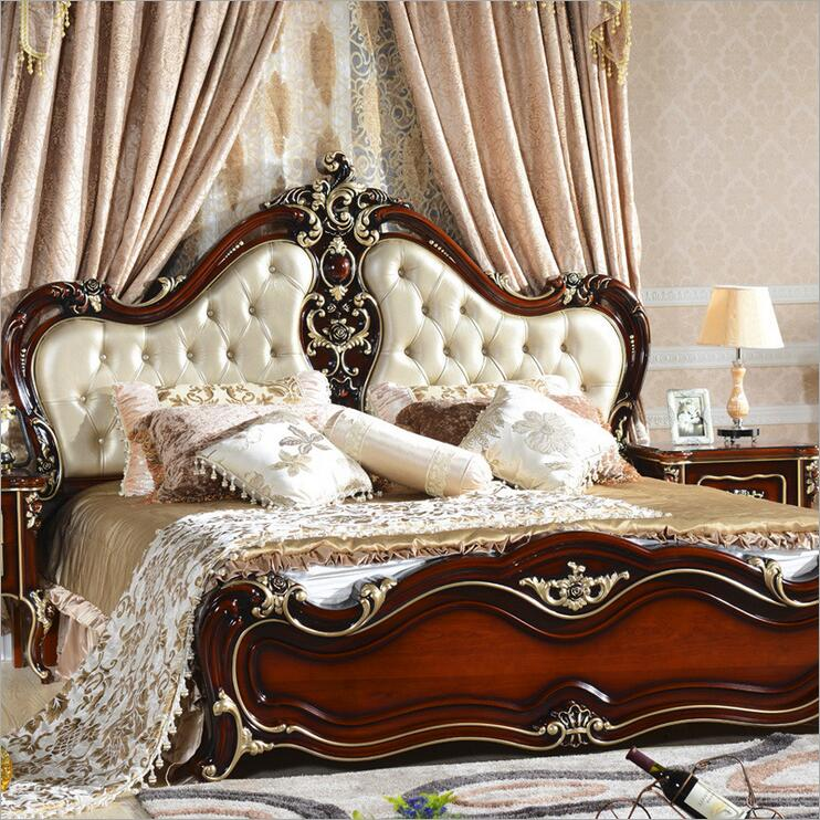 American wood bed bed European classical American country style furniture double bed 1.8 m 10316 стоимость