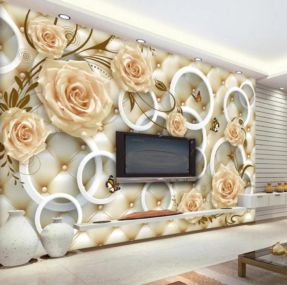 Custom wallpaper yellow rose flower ...