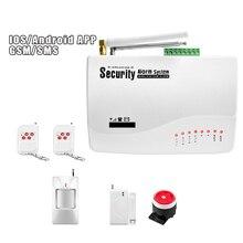 Alarmest ios android アプリ制御ワイヤレスホームセキュリティの gsm 警報システムキットリモコンオートダイヤル
